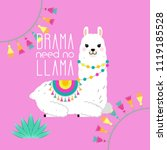 cute llama and alpaca... | Shutterstock .eps vector #1119185528