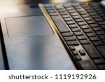 close up of keyboard of a... | Shutterstock . vector #1119192926