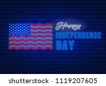 bright signboard for 4th of... | Shutterstock .eps vector #1119207605