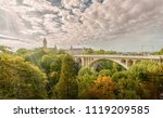 The bridge of Adolph is the national symbol of the city, it is one of the main tourist attractions. Luxembourg. Luxembourg.