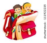 Illustration Of Kids In A Bag...