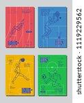 graphic design sport concept.... | Shutterstock .eps vector #1119229562