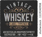 vintage decorative font named ... | Shutterstock .eps vector #1119240908