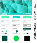 light green vector style guide...