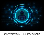 cyber security concept   hacker ... | Shutterstock .eps vector #1119263285