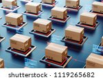 packages are transported in... | Shutterstock . vector #1119265682