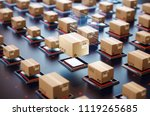 packages are transported in... | Shutterstock . vector #1119265685
