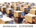 packages are transported in... | Shutterstock . vector #1119265688