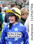 Small photo of Lady Amateur Jockey Joanne Mason at York Races : The Knavesmire, York Racecourse, Nth Yorkshire, UK : 16 June 2018 : Pic Mick Atkins