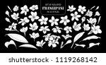 set of isolated white... | Shutterstock .eps vector #1119268142
