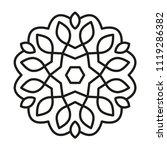 simple mandala. vector lines. | Shutterstock .eps vector #1119286382