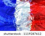 grunge illustration of french...   Shutterstock .eps vector #1119287612