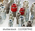 hydraulic quick couplers in... | Shutterstock . vector #1119287942