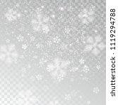 heavy snowfall  snowflakes in... | Shutterstock .eps vector #1119294788