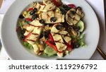 delicious chicken salad.   Shutterstock . vector #1119296792
