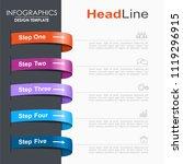 infographic design template... | Shutterstock .eps vector #1119296915