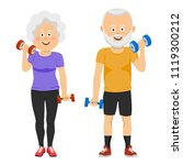 senior people couple with... | Shutterstock .eps vector #1119300212
