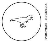 dinosaur tyrannosaurus t rex... | Shutterstock .eps vector #1119301616