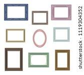 set of picture frames   vector...   Shutterstock .eps vector #1119304352