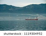 the incoming ship in the bay to ...   Shutterstock . vector #1119304952