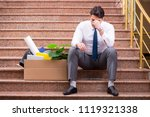 young businessman on the street ... | Shutterstock . vector #1119321338