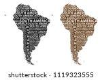 sketch south america letter...   Shutterstock .eps vector #1119323555