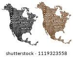sketch north america letter...   Shutterstock .eps vector #1119323558