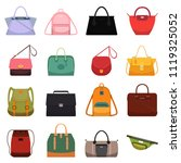 woman leather casual bags ...   Shutterstock .eps vector #1119325052