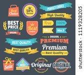 vintage retro vector logo for... | Shutterstock .eps vector #1119328205