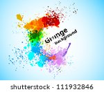 abstract colorful grunge...