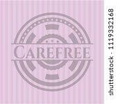 carefree pink emblem. vintage. | Shutterstock .eps vector #1119332168