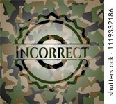 incorrect on camouflage pattern | Shutterstock .eps vector #1119332186
