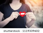 close up woman hands connecting ... | Shutterstock . vector #1119339602