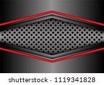 abstract red gray metal arrow... | Shutterstock .eps vector #1119341828