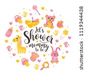 baby shower concept. let's... | Shutterstock .eps vector #1119344438