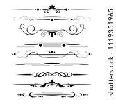 set of decorative dividers ... | Shutterstock .eps vector #1119351965