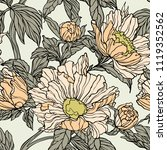 floral seamless pattern.... | Shutterstock .eps vector #1119352562