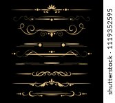 set of design gold elements and ... | Shutterstock .eps vector #1119352595