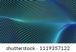 abstract 3d rendering of smooth ... | Shutterstock . vector #1119357122