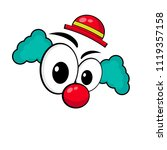 clown cartoon style . clown face | Shutterstock .eps vector #1119357158