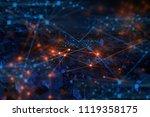glass cube digital abstract... | Shutterstock . vector #1119358175