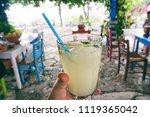 homemade lemonade glass   Shutterstock . vector #1119365042