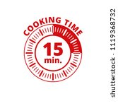 15 minutes cooking time... | Shutterstock .eps vector #1119368732
