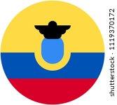 circular flag of ecuador   Shutterstock .eps vector #1119370172