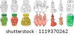 cartoon homemade and picnic... | Shutterstock .eps vector #1119370262