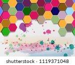 vector abstract background... | Shutterstock .eps vector #1119371048