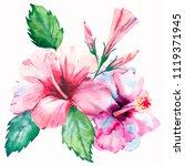 bright green herbal tropical... | Shutterstock . vector #1119371945