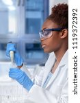 african american scientist or... | Shutterstock . vector #1119372392