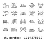 playground icon set. included... | Shutterstock .eps vector #1119375932