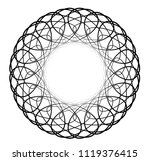 geometric round circle ornament ...   Shutterstock .eps vector #1119376415